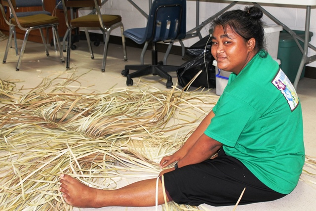 Alumni Neila George graduated from the WAM program in 2012 and is now attending the Juran Ae weaving program, which is next to the Ministry of Education.