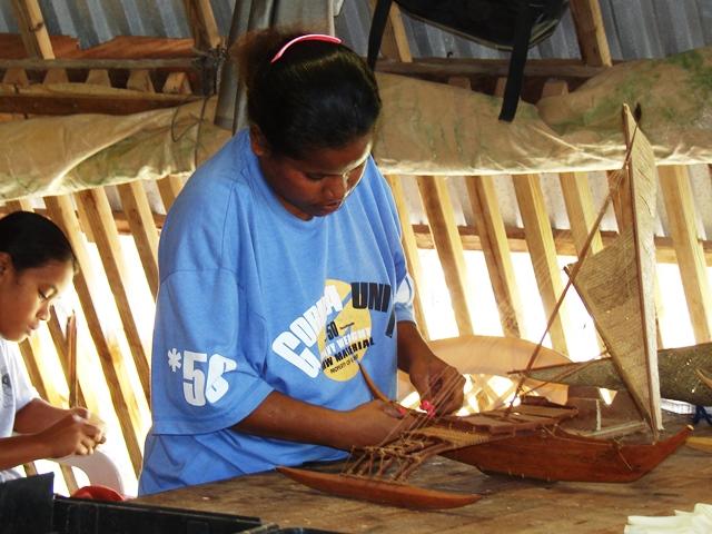 Assembling Model Canoe
