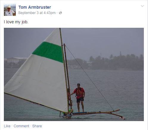 US Ambassador Tom Armbruster on facebook
