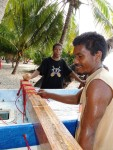 The refit of the Ailuk canoe was an important project for the atoll.