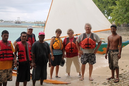 US Embassy folk and friends prepare for the sail or their life. Photo: WAM