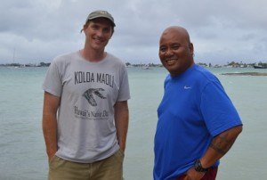 University of Hawaii's Joe Genz with WAM director Alson Kelen. Photo: Karen Earnshaw