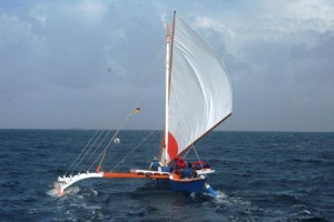 Smooth sailing in Majuro lagoon as Jitdam Kapeel heads for the pass. Photo: WAM