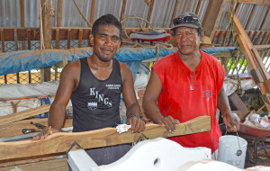 WAM trainee Neil Lakmij with instructor Binton Daniel. Photo Karen Earnshaw