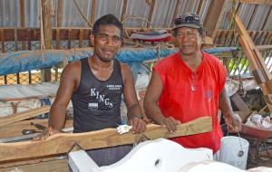 WAM trainee Neil Lakmij with instructor Binton Daniel. Photo Karen Earnshaw