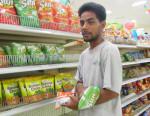 WAM 2015 alumni Dalmer Menwe at work at K&K Supermarket in Delap. Photo: Tolina Tomeing