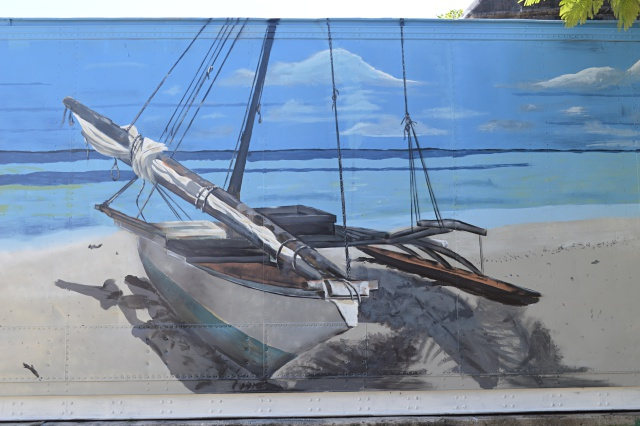 A section of the mural that Apo Leo painted for WAM. Photo: Karen Earnshaw