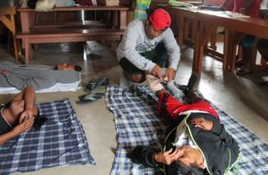 WAM trainees learn first aid skills thanks to the Red Cross workshop. Photo: WAM