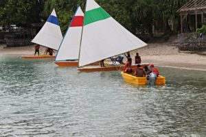 WAM trainees receiving sailing instruction. Photo: Isocker Anw