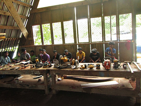Trainees receiving tool training. Photo: Isocker Anwell