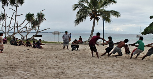 Tug of War a group activity. Photo: Rosan Barolome